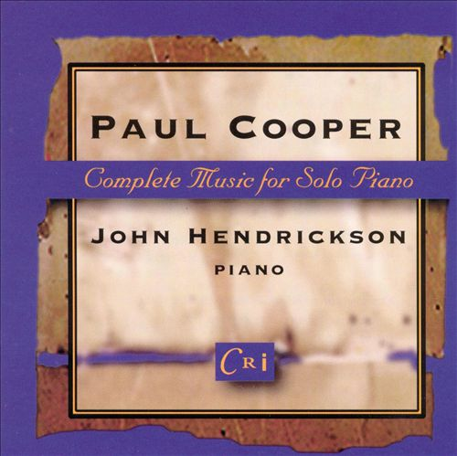 Paul Cooper: Complete Music for Solo Piano