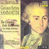 Sammartini: The Complete Early Symphonies for String Orchestra