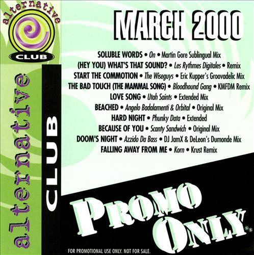 Promo Only: Alternative Club (March 2000)