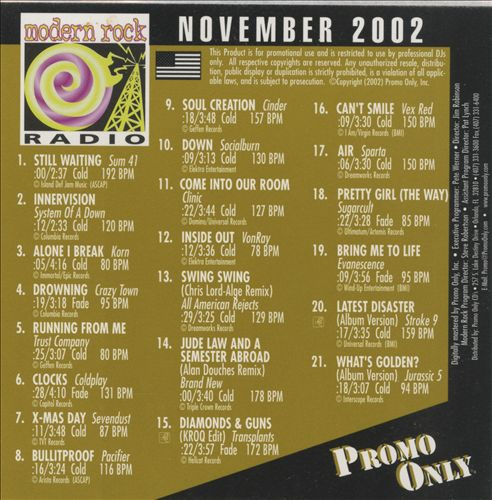 Promo Only: Modern Rock Radio (November 2002)