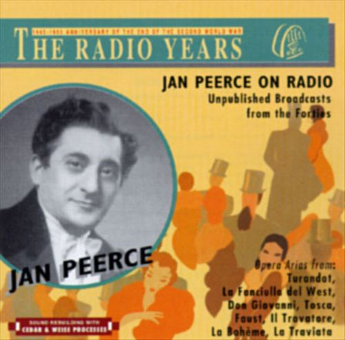 Jan Peerce On The Radio-Unpublished Broadcasts From The Forties