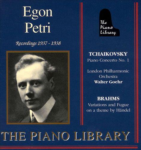 Egon Petri Recordings 1937-38