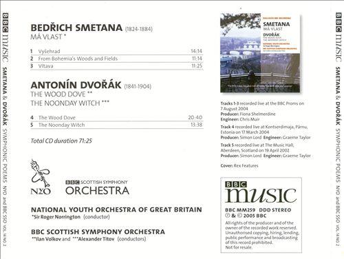 Smetana: Má Vlast; Dvorák: The Wood Dove; The Noonday Witch