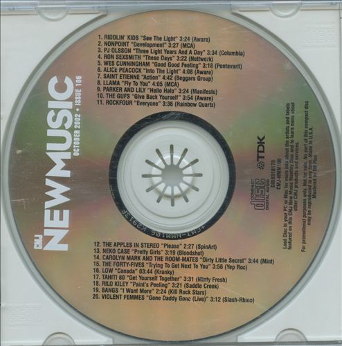 CMJ New Music, Vol. 106