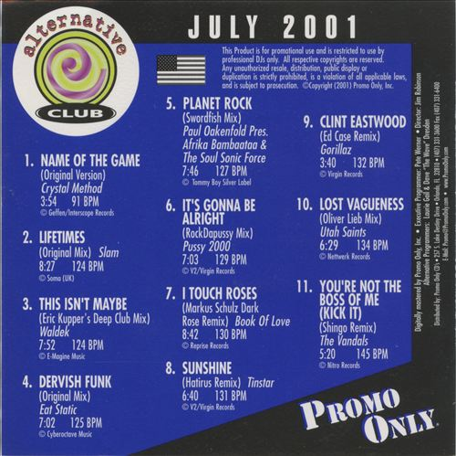 Promo Only: Alternative Club (July 2001)