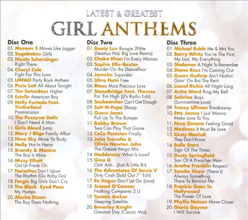 Latest & Greatest: Girl Anthems