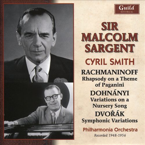 Rachmaninoff: Rhapsody on a Theme of Paganini; Dohnányi: Variations on a Nursery Song; Dvořák: Symphonic Variations
