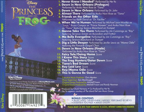 The Princess and the Frog [Original Songs and Score]