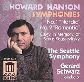 Howard Hanson: Symphonies Nos. 1 & 2; Elegy in Memory of Serge Koussevitsky