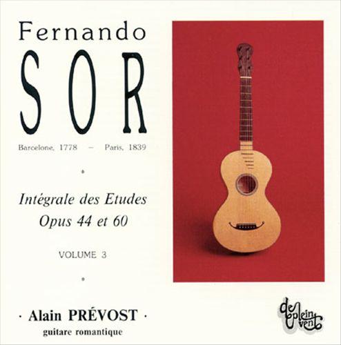 Fernando Sor: Intégrale des Etudes, Vol. 3: Opus 44 et 60