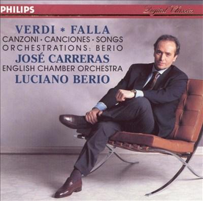 Verdi, Falla: Songs