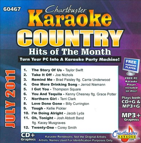Chartbuster Karaoke: Country Hits of the Month July 2011