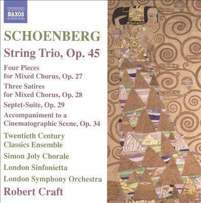 Schoenberg: String Trio, Op. 45
