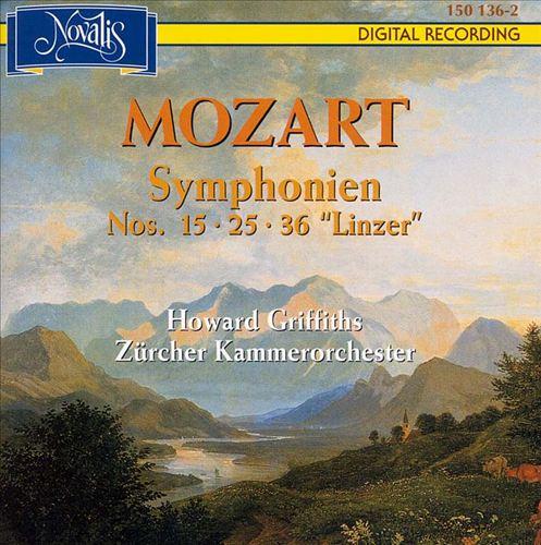 Mozart: Symphonies 15, 25 & 36