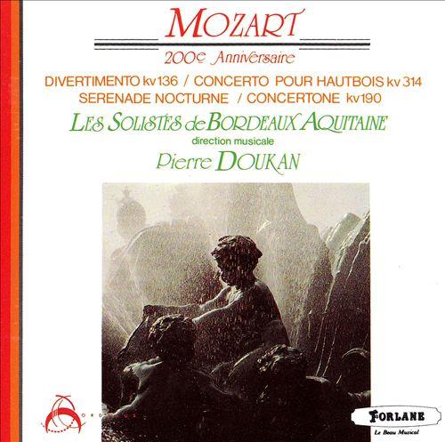 Mozart: Divertimento K136, Oboe Concerto K314, etc