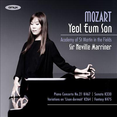 "Mozart: Piano Concerto No. 21, K 467; Sonata, K 330; Variations on ""Lison dormait"", K 264; Fantasy, K 475"