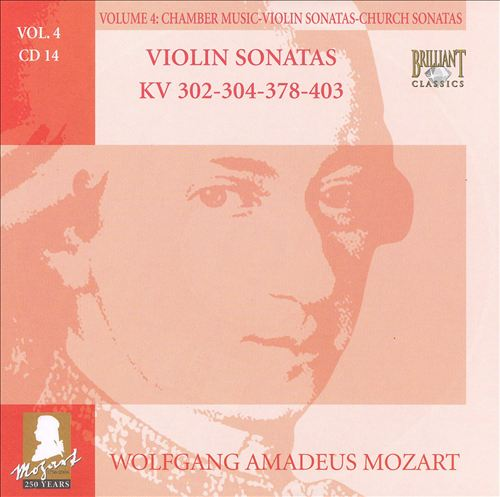 Mozart: Complete Works, Vol. 4 - Chamber Music, Violin Sonatas, Church Sonatas, Disc 14