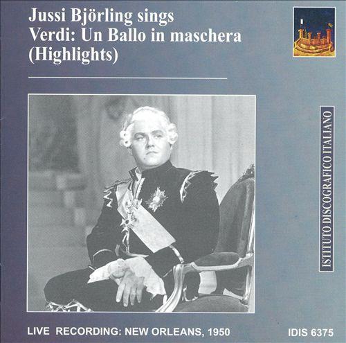 Jussi Björling Sings Highlights from Verdi's