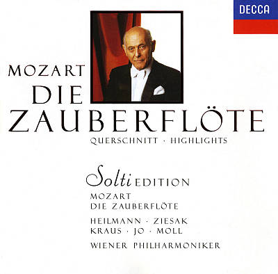 Mozart: Die Zauberflöte [Highlights] [1990 Recording]