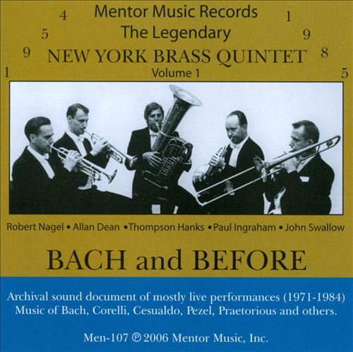 The New York Brass Quintet, Vol. 1: Bach & Before