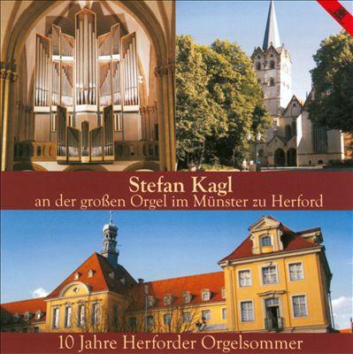 Stefan Kagl an der großen Orgel im Münster zu Herford