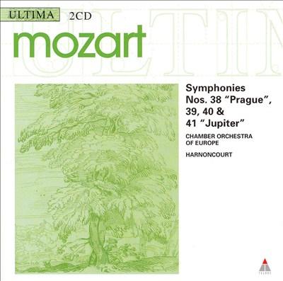 "Mozart: Symphonies Nos. 38 ""Prague"", 39, 40 & 41 ""Jupiter"""
