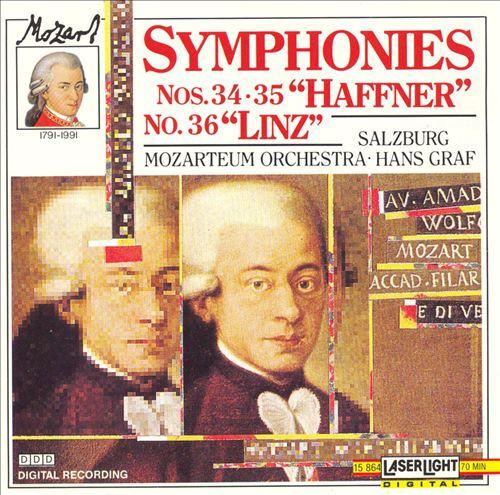 A Little Night Music, Vol. 3: Mozart - Symphonies Nos. 34, 35 (