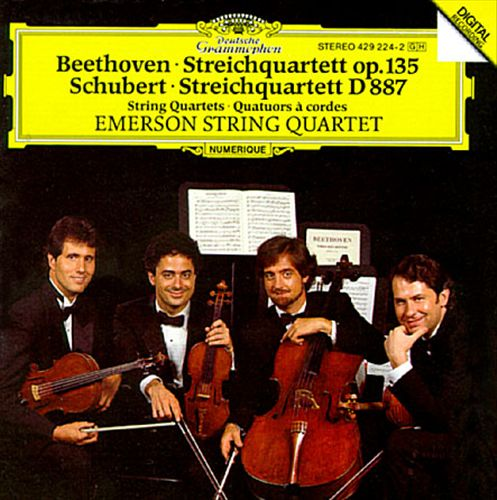 Schubert: Quartet in G, D.887/Beethoven: Quartet in F, Op.135