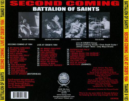 Second Coming: Live at CBGB's 1984