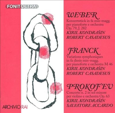 Casadesus Plays Weber, Franck, Prokofiev