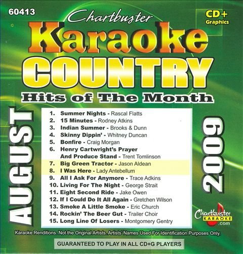 Chartbuster Karaoke: Country Hits of the Month, August 2009