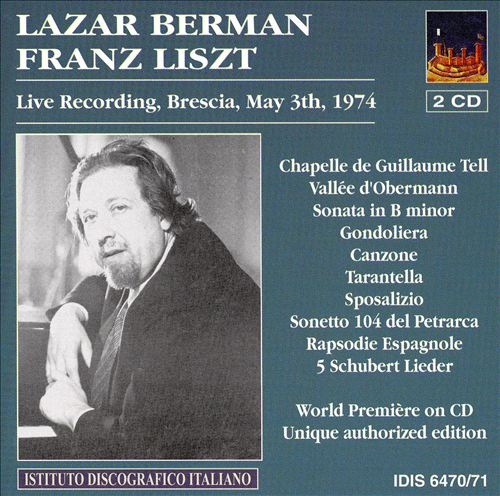 Lazar Berman plays Franz Liszt