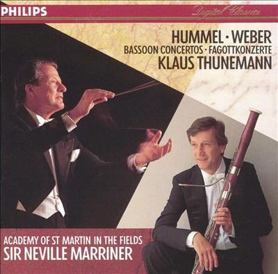 Hummel, Weber: Bassoon Concertos