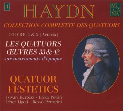 Haydn: Collection Complete des Quatuors, Vol. 4 - Les Quatuors Oeuvres 33 & 42