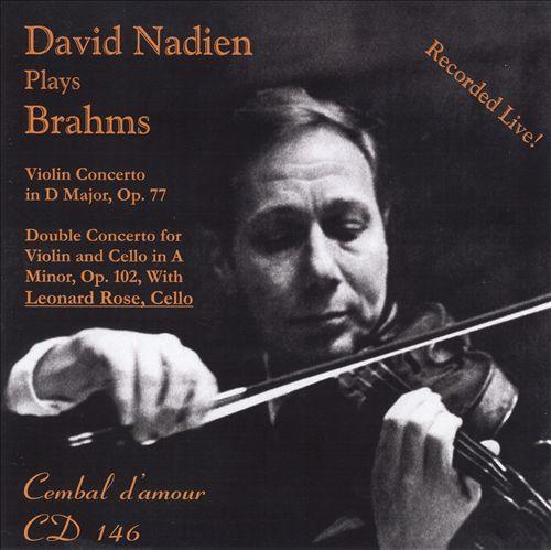 David Nadien plays Brahms