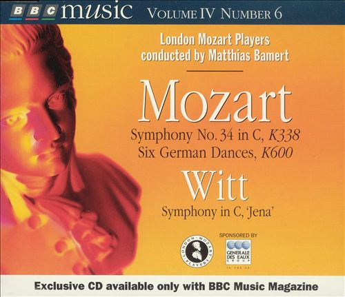 Mozart: Symphony No. 34 in C, K338; German Dances, K600; Witt: Symphony in C