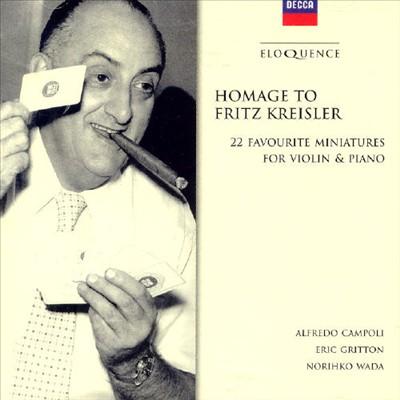 Homage To Kreisler; 22 Favourite Miniatures for violin & piano [Australia]