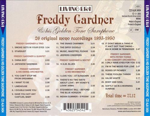 Freddy Gardner and His Golden Tone Saxophone
