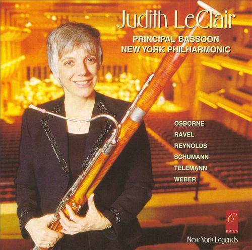 Judith LeClair plays Osborne, Ravel, Reynolds, Schumann, Telemann & Weber