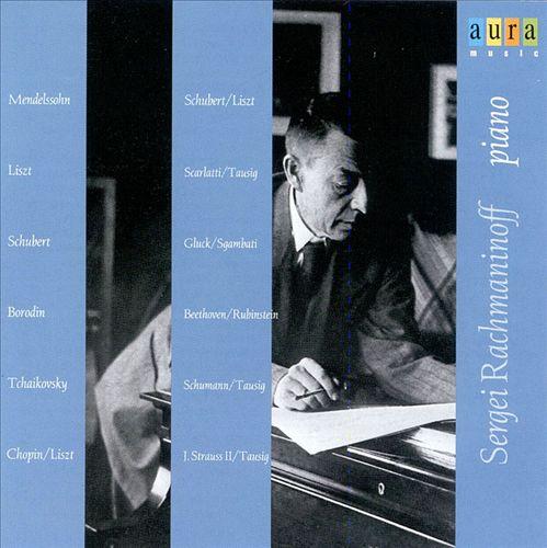 Sergei Rachmaninoff, piano