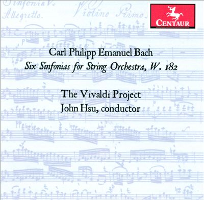 C.P.E. Bach: Six Sinfonias for String Orchestra, W. 182