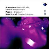 Schoenberg: Verklärte Nacht; Sibelius: Andante Festivo: Shostakovich: Chamber Symphony; Puccini: I Crisantemi