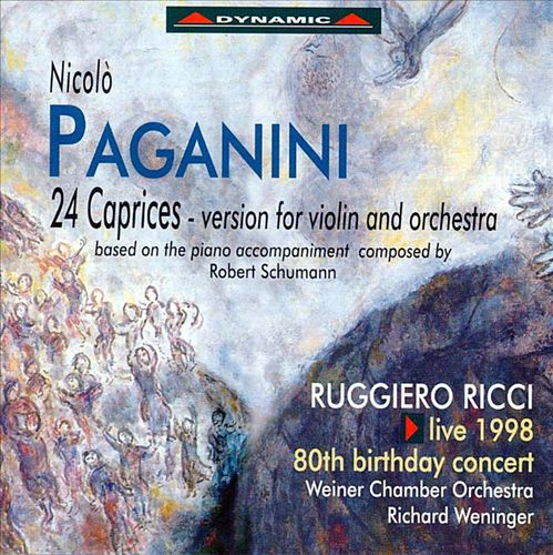 Paganini: 24 Caprices - version for violin and orchestra