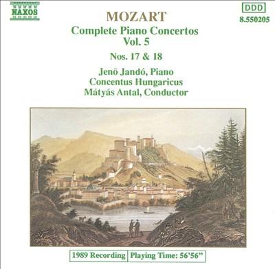 Mozart: Complete Piano Concertos, Vol. 5