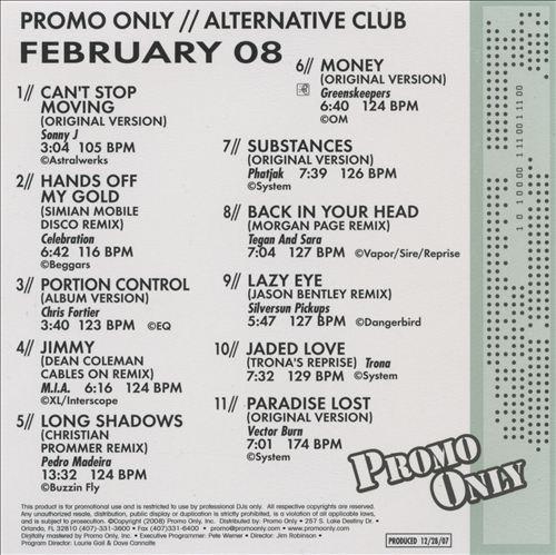 Promo Only: Alternative Club (February 2008)