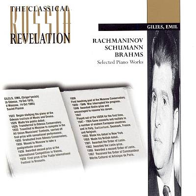 Rachmaninov, Brahms and Schumann