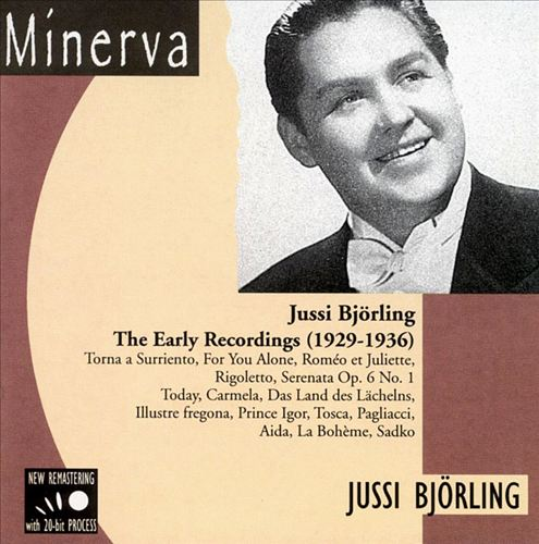 Jussi Björling Early Recordings 1929 - 36