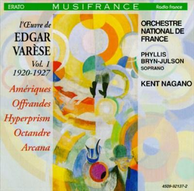 L' Oeuvre de Edgar Varèse, Vol. 1: 1920-1927