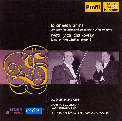 Brahms: Concerto for Violin and Orchestra in D major; Tchaikovsky: Symphony No. 4