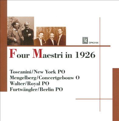 Four Maestri in 1926